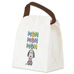 snoopy nomnomnom canvas lunch bag with strap