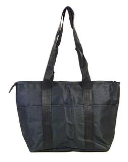 Solid Blank Black Reusable Lunch Tote Bag Insulated Thermal