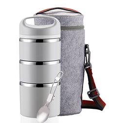 Lille Stackable Stainless Steel Thermos Lunch Box  3-Tier In