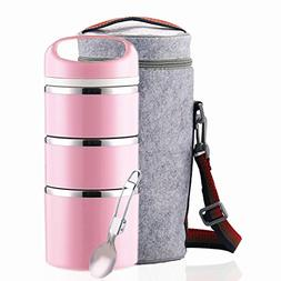 stackable stainless steel thermos lunch