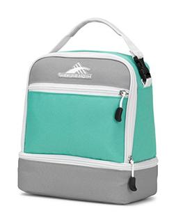 High Sierra Stacked Compartment Lunch Bag, Aquamarine/Ash/Wh