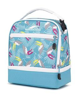 High Sierra Stacked Compartment Lunch Bag, Toucan/Tropic Tea