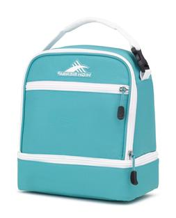High Sierra Stacked Compartment Lunch Bag, Turquoise/White