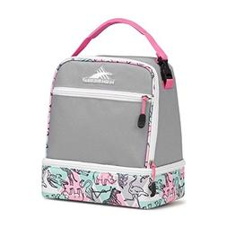 High Sierra Stacked Compartment Lunch Bag, Ash/Safari/Pink L