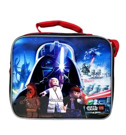Lego Star Wars Light Black & Red Boys Insulated Lunch Bag &