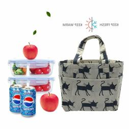 Stylish insulated lunch bag with heat insulation made of cot