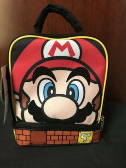 SUPER MARIO Boys Lead Safe Dual Chamber Insulated Lunch Tote