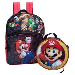 Super Mario Bros Brothers Boys Backpack with Detachable Insu