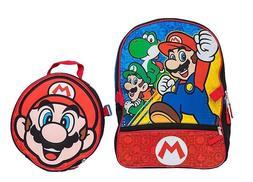 Nintendo Super Mario Bros Brothers Boys School Backpack Lunc