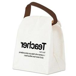 CafePress Teacher Definition Canvas Lunch Bag with Strap Han