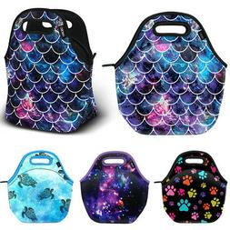 Thermal Insulated Neoprene Tote Lunch Bag Handbag for School