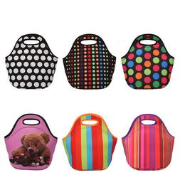 Thermal Insulated Neoprene Tote Lunch Bag Handbag for Work P