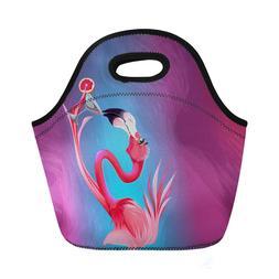 Thermal Lunch Bag Flamingo Design Fashion Portable Storage T