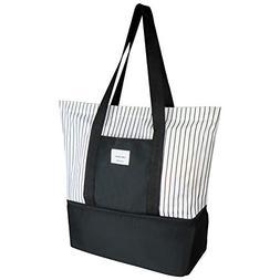 Soonnix Travel Tote Bag Work Lunch Shopping Shoulder Handbag