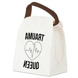 CafePress Trauma Queen Canvas Lunch Bag with Strap Handle