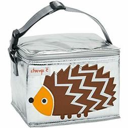 Travel & ToGo Food Containers Lunch Bag, Hedgehog, Brown Bab