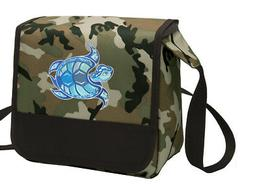 Sea Turtle Lunch Bag CAMO Turtle Lunchbox Cooler ADJUSTABLE