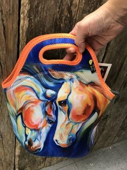 Art of Lunch Twin Horse lunch tote lunch bag neoprene lunch