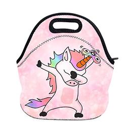 AOTIGO Dab Unicorn Dabbing Dance Neoprene Lunch Bag Insulate