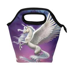 ALAZA Unicorn Kids Lunch Box Insulated Lunch Bag Large Freez