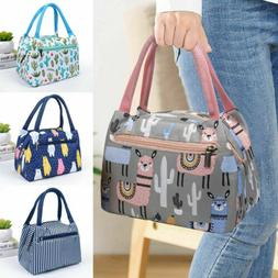 US Adults Women Girls Portable Insulated Lunch Bag Box Picni