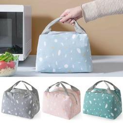 US Large Insulated Lunch Bag Cooler Picnic Travel Food Box W