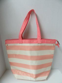 Victorias Secret Insulated Tote Beach Lunch Bag Pink Striped