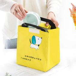 Waterproof Cute Cartoon Lunch Storage Bags Picnic Insulated