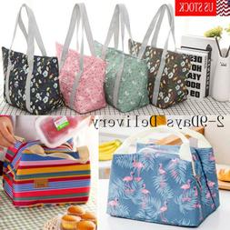 Lunch Bag Insulated Women Tote Thermal Box Cooler Travel Pic
