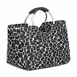 Waterproof Zipper Lunch Bag Tote Bag Handbag Shopping Bag Pi