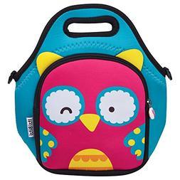 Waterproof, Insulated Kids Neoprene Lunch Bag with Adjustabl