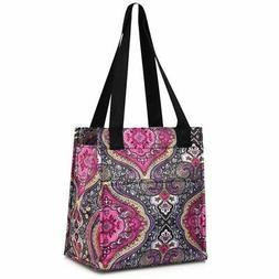 Women Insulated Lunch Bag Cooler Picnic Travel Zipper Carry