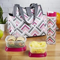 Fit & Fresh Women's Westport Insulated Lunch Bag with Matchi