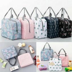 Womens Kids Portable Cute Waterproof Lunch Bag Insulated Zip