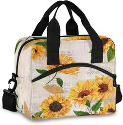 ALAZA Yellow Watercolor Sunflower Blossom Floral Lunch Bags