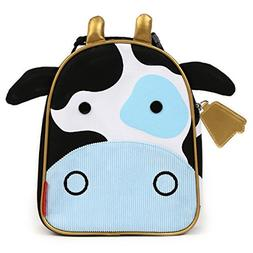 Skip Hop Zoo Kids Insulated Lunch Box, Cheddar Cow, Blue